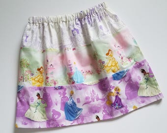 Size 6 Girls Skirt Princess Skirt with Princesses Three Tier Skirt Princess Outfit Cinderella Belle Tiana Unique One of a Kind