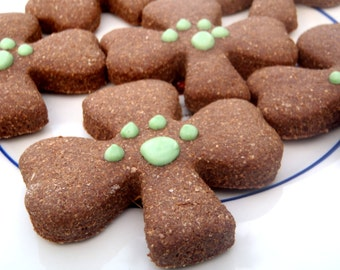 Organic Dog Treats - Shamrocks - All Natural Dog Treats Organic Vegetarian Molasses - Shorty's Gourmet Treats
