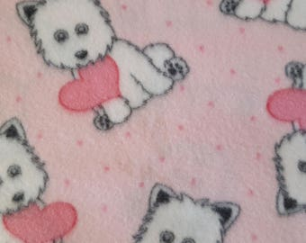 Dog with a Big Heart Fleece (1.5 yards)