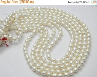 on sale AAA quality Pearl rice Shape 6x7mm 16 inch strand approx