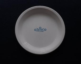 Vintage White CORNING WARE 10 inch Pie Plate Blue CORNFLOWER Perfect! & 10 inch pie plate | Etsy
