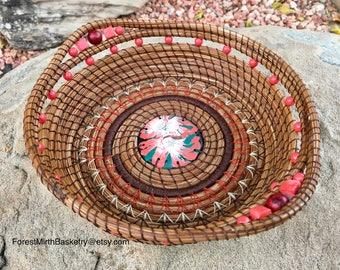Pine needle art basket