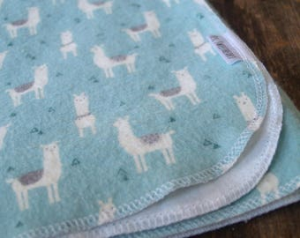Extra Large Llama Flannel Receiving Blanket- Swaddle Blanket- Baby Shower- Nursery- Boy- Girl- Neutral-Farm- Animals- Hipster-Gift