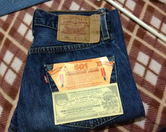 Brand New Vintage Levi's 501 Denim Blue Stonewashed Jeans W29 L32 Made In USA