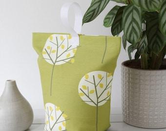 Doorstopper Olive Green Tree Print Woodland Fabric Scandi Style Vintage Colours Door Stop Doorstop Retro Home UK