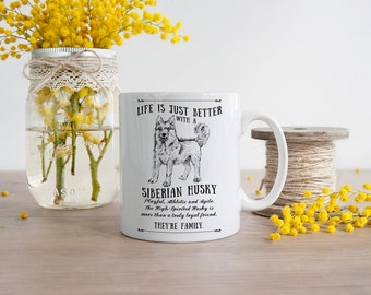 Siberian Husky Mug ~ Perfect Gift can be personalised