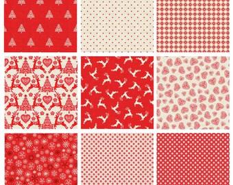 Makower Christmas 2017 Scandi 4 Fabric - Red