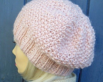 KNITTING PATTERNS BRAMBLE/ Easy Slouch Hat Pattern /Womans Easy Hat Pattern/ Knit Straight/Chunky Knit Slouch Hat/Quick Knit/Easy