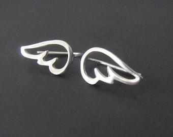 Wings Climber Earrings, Ear Cuff, Sterling Silver Earrings, Jewelry, Gift, Minimalist Earrings