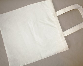 Set of 10 Unbleached Plain Cotton Canvas Tote Bag.DIY Great for Crafts,  projects 15x16