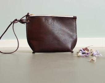 leather makeup bag - leather toiletry bag - leather cosmetic bag - leather makeup pouch - makeup bag leather - bridesmaid makeup bag - purse