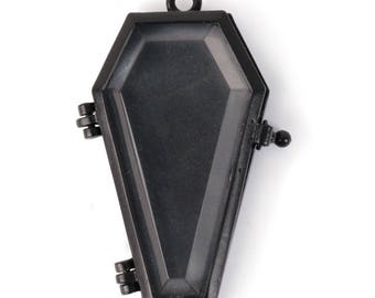 "Transparent ""Glass"" Coffin Pendant (STEAM311)"