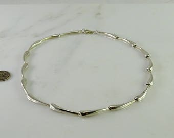 "16"" Choker Length Sterling Necklace"
