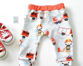 Fire trucks baby, boys leggings