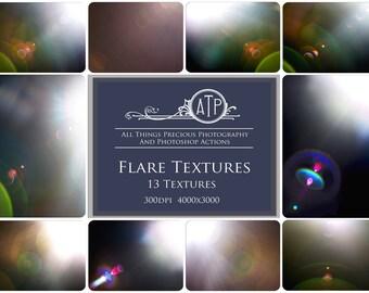 12 High Res Fine Art Digital LENS / SUN flare Overlays / Textures