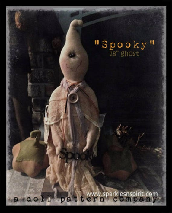 """Doll KIT: Spooky - 18"""" Ghost - Full Kit of supplies"""