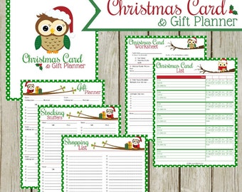 Christmas Card & Gift Planner: Instant Download