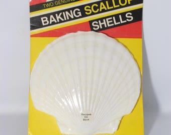 Large Baking Scallop Shells Oven Safe NIB Set of 2