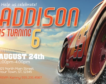 Cars Invitation; Instant Download; Cars Themed Birthday; Cars Themed Party