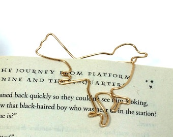 Gold Bird Bookmark