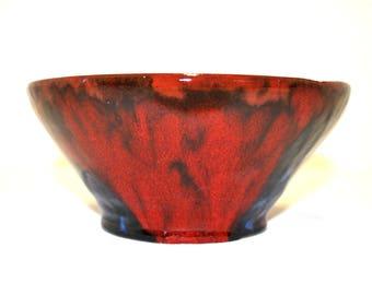 Beautiful hand made ceramic multicoloured bowl