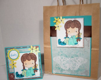 THANK YOU matching Gift Bag and Card SET