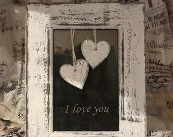 I love you Shabby Chic Heart Frame/Picture