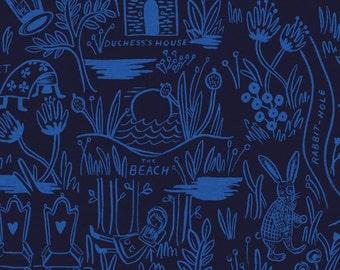 Cotton + Steel Wonderland canvas - magic forest - navy - fat quarter