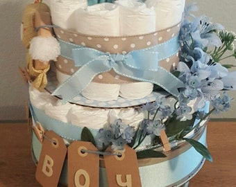 boy's vintage diaper cake