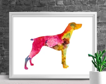 Weimaraner Watercolor Art Print - Giclee Wall Decor Home Decor Housewarming Gift Birthday Gift Pet Lover's Gift
