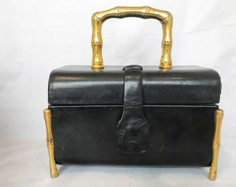 Vtg Lesco Leather Box Purse