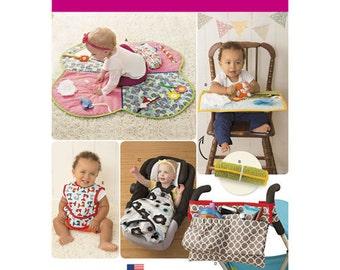 Sewing Pattern for Baby Accessories, Simplicity 8110, Floor Play Mat, HighChair Play Mat, Stroller Organizer, Bibs, Car Seat Blanket