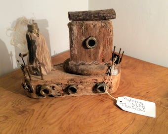 Gone with the Wind - Driftwood Sculpture - with metal parts - Sale