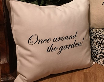 Once Around The Garden 18x18 Pillow Case