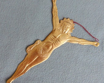 Antique German Dresden Paper Christmas Tree Ornament Jesus ca.1880-1900