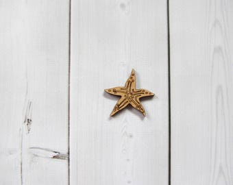 Starfish Laser Cut Out Unfinished Wood Shape Craft Supply Shapes Wood Embellishment Craft Decoration Gift Decoupage