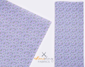 Purple Floral Fabric Etsy