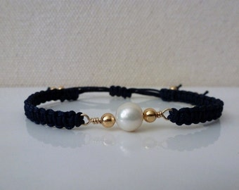 Pearl Corded Bracelet
