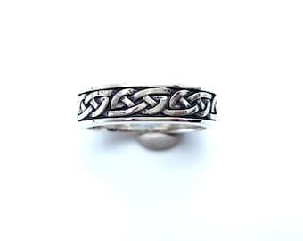 Celtic women ring, Celtic ring,Silver Celtic Ring,925 Sterling Silver,Black