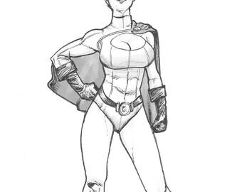 Power Girl Illustration