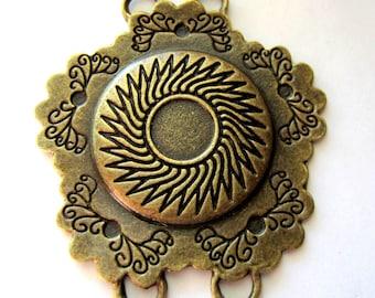 4 Bronze chandelier jewelry finding 53mm x 48 4Y-AB gypsy jewelry boho chic jewelry connectors