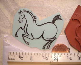 brush stroke horse rubber stamp UN-mounted scrapbooking rubber stamping
