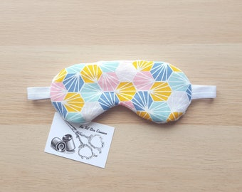 Sleeping mask / / sleep mask / / sleep accessory / / sleep - pastel Hexagon accessory