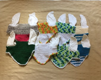 crochet horse fly bonnet