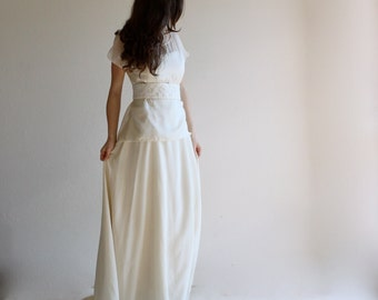Wedding top, silk blouse, sheer blouse, top, bridal separates, wedding separates, simple wedding dress, silk top, two piece wedding dress,