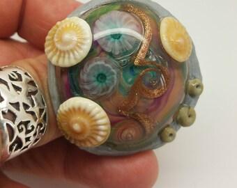 Tidal Pool Ring, Handmade, Artisan, OOAK