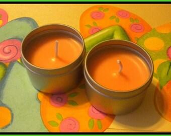 Candle - Soy Candle - Mango Papaya scented - 2 oz - Free U.S. Shipping - Travel Size