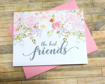 Pregnancy Announcement to Best Friend - Pregnancy Reveal to Friend - New Aunt Baby Announcement - Having a Baby Card - GARDEN ROMANCE