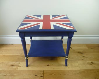 Nelson - Hand painted Union Jack table