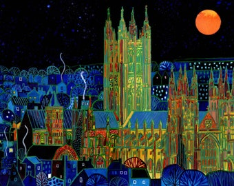Cathedral. Canterbury (2018). A ltd edition, numbered and signed print from an Original Painting by Richard Friend